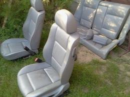 Fotele+ kanapa+ zagłówki Bmw e46 coupe siwa skóra elektryka