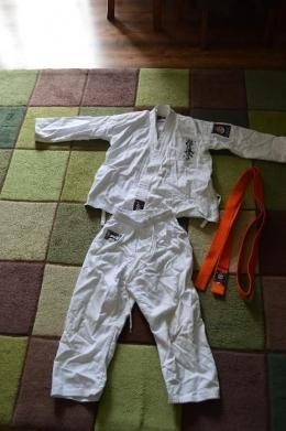Kimono Karate Spodnie+Bluza+ 2Pasy Stan idealny