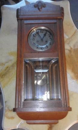 Zegar ANTYK szkło fazowane po przęglądzie stan BDB zdjęcia mechanizm