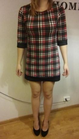 Sukienka w kratę rozmiar 38
