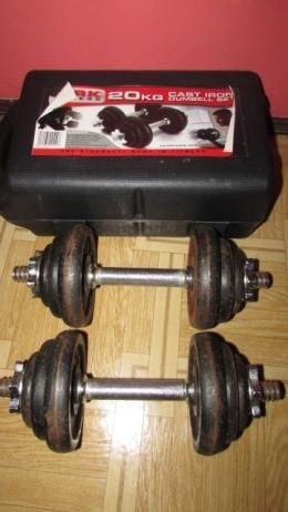 2x hantle 8.5kg YORK obciążenie razem z hantlami 20kg