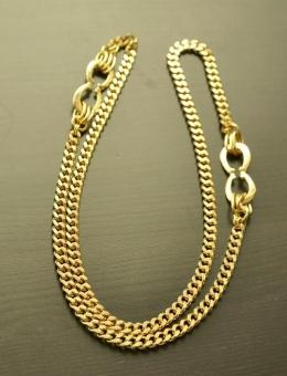 Ciężki łańcuch w kolorze złota długi plus ozdoba