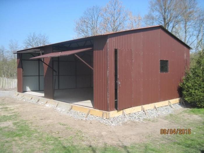 Garaż Blaszany 7x5 Dwuspad Blaszaki Pomieszczenie Gospodarcze Garaże