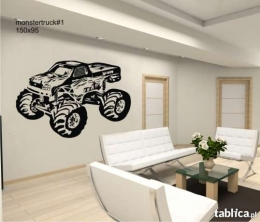 Naklejki na ścianę MONSTER TRUCK auto samochód DEKORACJE