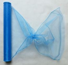 Organza niebieska błękitna organtyna szyfon woal 40cm 8m na ślub
