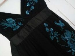 Piękna sukienka koktajlowa, ciążowa, wieczorowa, karnawał, Oasis 36