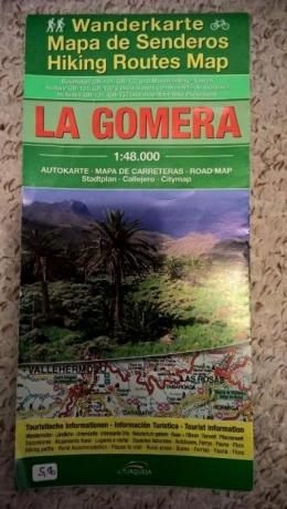Mapa turystyczno-samochodowa wyspy La Gomera