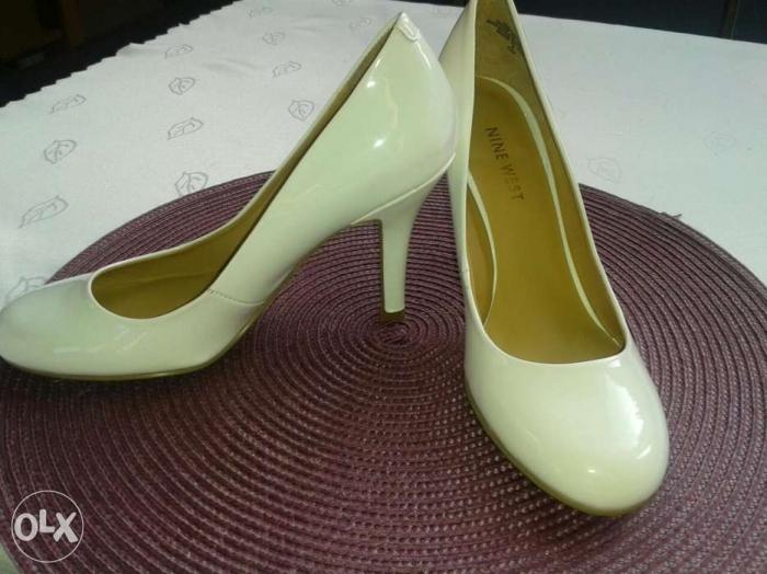 810ac35686c18 Nine west czółenka szpilki białe buty ślubne rozm 35.5 - Buty ślubne ...