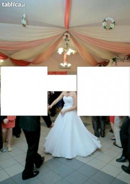 Piękna suknia ślubna Bianka + wszystkie dodatki