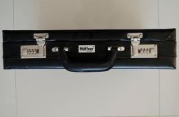Aktówka, walizka na szyfr, ekoskóra, z kieszenią wewnątrz na dokumenty