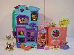 Littlest Pet Shop - 2 Domki + Figurki + Akcesoria