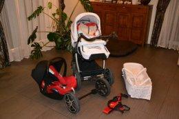 Rewelacyjny wózek Hartan Racer GT 3 w 1 z fotelikiem Maxi Cosi