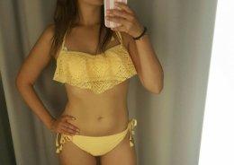 Nowy strój kąpielowy S/M zółty