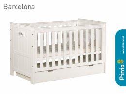 Łóżeczko 120x60 Barcelona białe