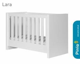 Łóżeczko Lara białe 120x60