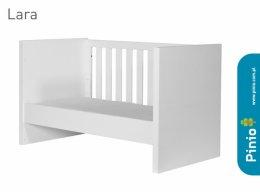 Łóżeczko-tapczanik Lara białe 140x70