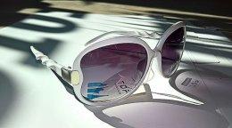 Okulary przeciwsłoneczne białe z filtrem UV400