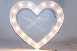 Serce z żarówkami, świecące, na ślub i wesele - niesamowita dekoracja