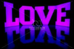 Świecący napis LOVE zmieniające kolory RGB, pilot, na ślub, wesele.