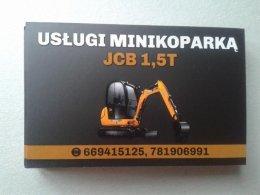 Uslugi Minikoparka JCB 1,5t Dojazd GRATIS
