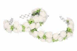 Opaska komunijna z kwiatuszków, wianek komunijny