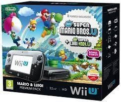 Nintendo Wii U Premium Pack Black +MK8 +NSMB +NSLU