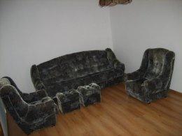 Komplet wypoczynkowy z fotelami i pufami wersalka kanapa