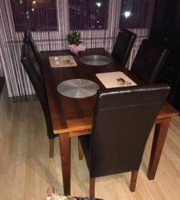 Duży stół sosnowy+krzesła