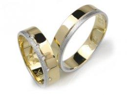Goldrun Złote Obrączki Ślubne L043 5mm Para Bezszwowe