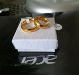 Złote Obrączki Ślubne komplet Para Komplet dla młodej pary 10-30