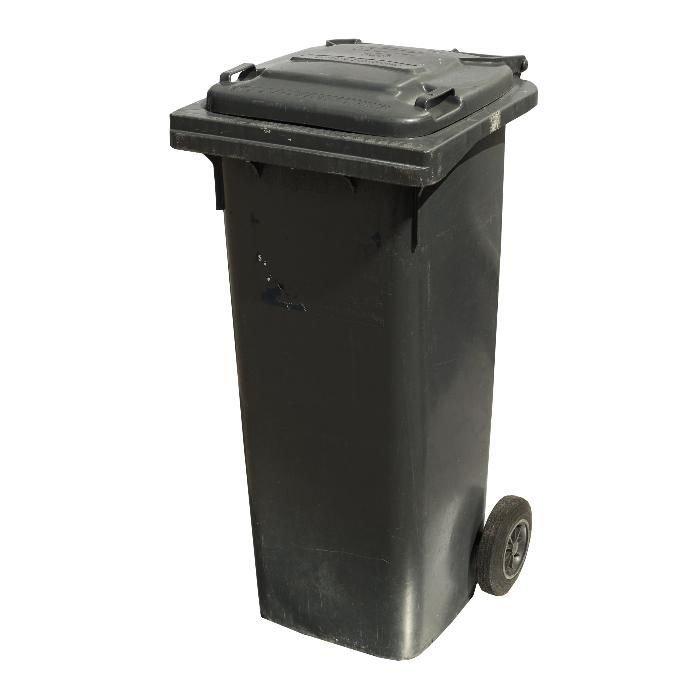 Fantastyczny 140L Pojemnik Kubeł Kosz na śmieci odpady (duży 120L) UŻYWANY NS85