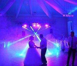 Dekoracja światłem, oświetlenie parkietu, oświetlenie na wesele