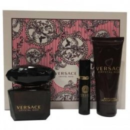 Versace Crystal Noir woda toaletowa spray 90 ml + edt 10 ml + body lotion 100 ml