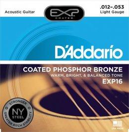 D'Addario EXP16 12-53 struny do gitary akustycznej, powlekane