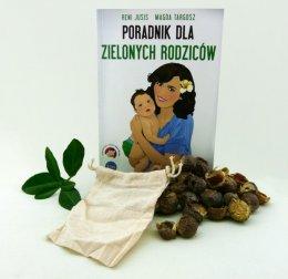 Książka - Poradnik dla zielonych rodziców + Orzechy do prania 100g + woreczek