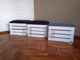 Skrzynia kufer na zabawki/buty siedzisko pufa drewniana skrzynka nowe