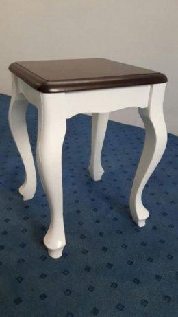 Taborety Ludwik Białe Surowe Krzesła Meble Stylowe Glamour