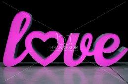 Pisane LOVE podświetlane RGB w różnych kolorach, 2 częściowe, nowość!