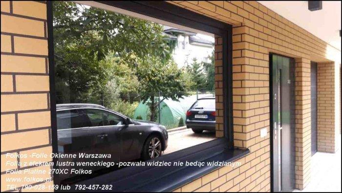 Folia lustro weneckie- na okna na parterze -Oklejanie szyb Warszawa i okolice