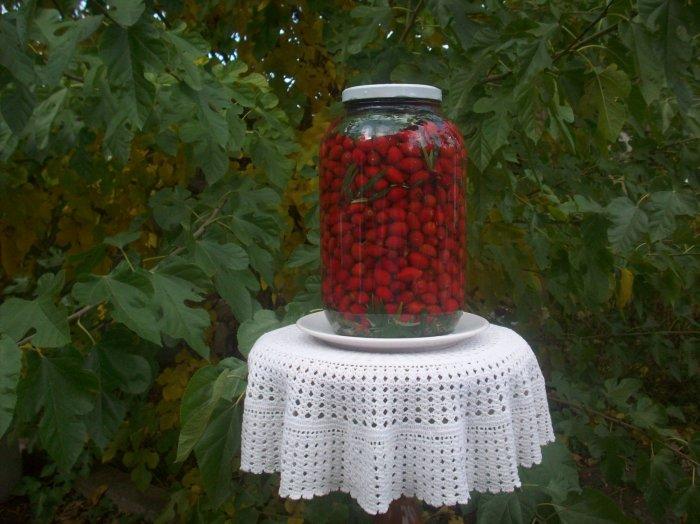 Kiszony owoc dzikiej róży