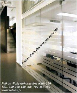 Folkos Folie Okienne Warszawa wzory 234,250,560,880, Mgła,Perła,Creazy Squares