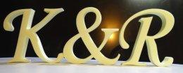 niemalowane litery ze styroduru