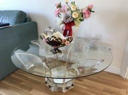 Designerski okrągły stolik Glamour 100 bardzo ciężki
