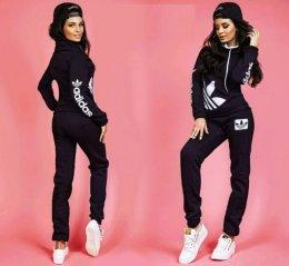 Zestaw damski ocieplany polarem bluza+spodnie S M L XL