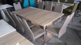Komplet stół + 8 krzeseł,krzesło,fotel