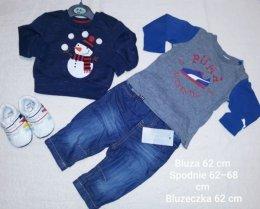 Nowe Ubranka ceny od 10 zł Puma next H&M dla chłopca 62-68 68cm