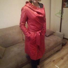 Płaszcz damski Fratelli czerwony rozmiar S/M