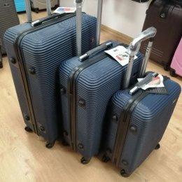 Walizka podróżna marki Bagia ABS szyfr, kółka 360 roz. S