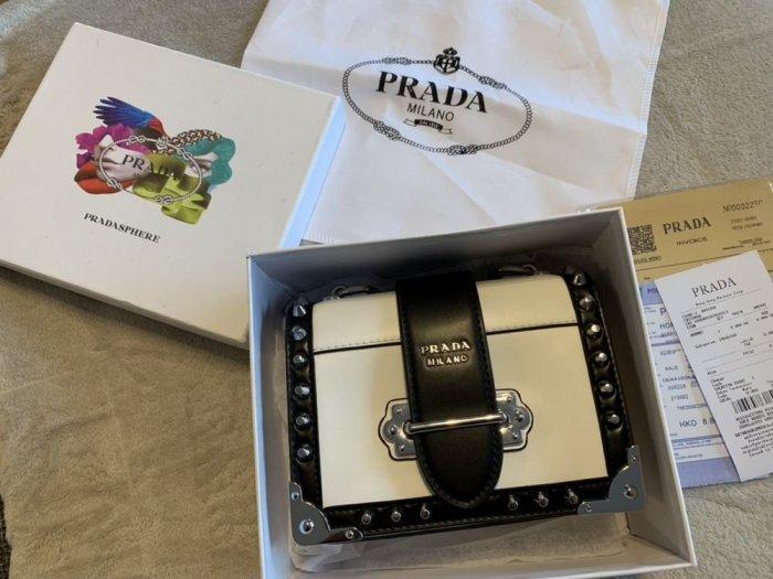 7883a1b90b06a Torebka Prada Cahier leather shoulder bag - Dodatki - Warszawa ...