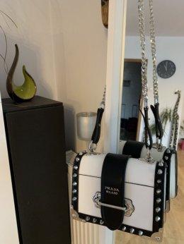 9f7c5f5b0213c Torebka Prada Cahier leather shoulder bag - Dodatki - Warszawa ...